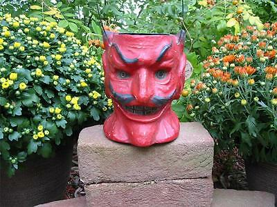 Cody Foster Medium Red Devil Jack O'lantern Bucket Candy Container Halloween New