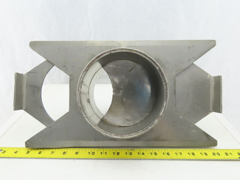 """6"""" Stainless Steel Heavy Rolled Edge Duct Work Ducting Airflow Blast Gate"""