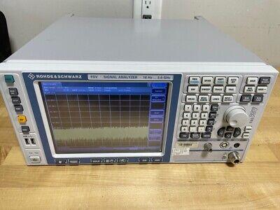 Rohde Schwarz Fsv 10hz - 3.6ghz Signal Spectrum Analyzer
