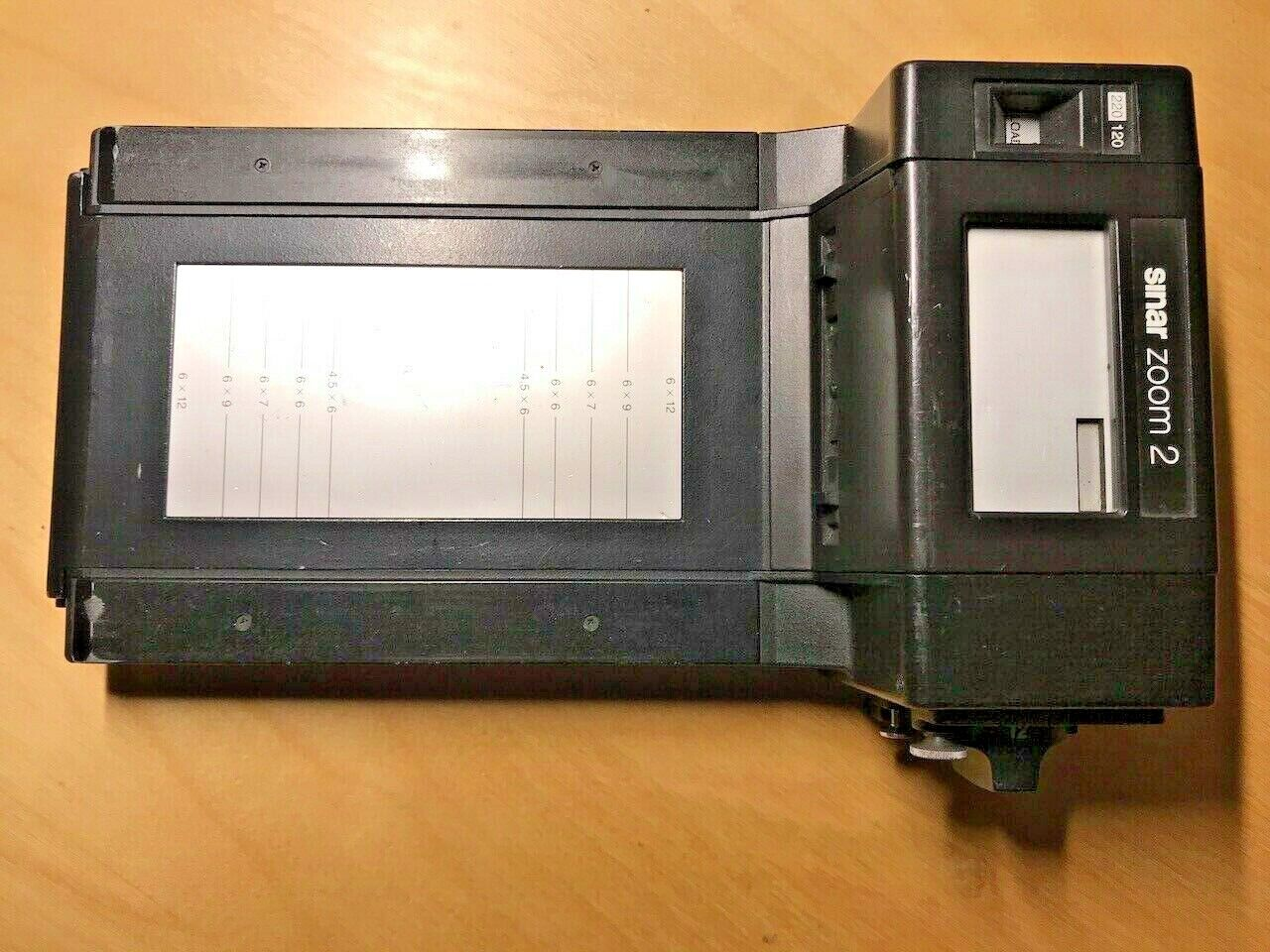 Sinar Zoom 2 Rollfilm Holder & Vario Mask 6x4,5 6x6 6x7 6x9 6x12