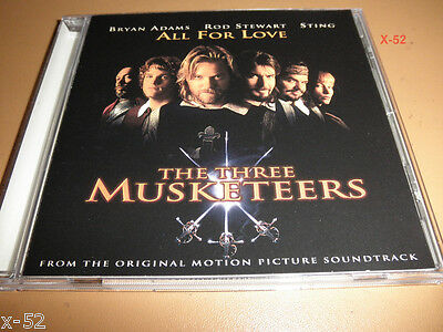 ALL FOR ONE Single CD Three Musketeers ROD STEWART Sting BRYAN ADAMS 2 Tracks  - $11.99