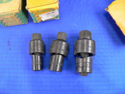 3 Greenlee 730 Round Radio Chassis Knockout Punches 12 58 34
