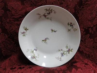 Haviland 1 Fuchsia Pink and Blue Floral: Coupe Soup Bowl (s) 7 1/2