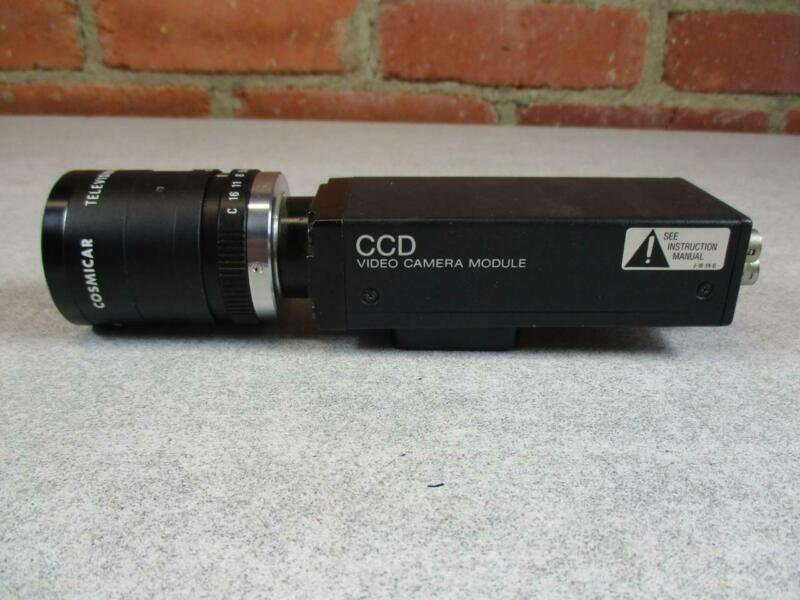 Sony XC-77 Industrial Machine Vision CCD Video Camera Module Cosmicar Lens