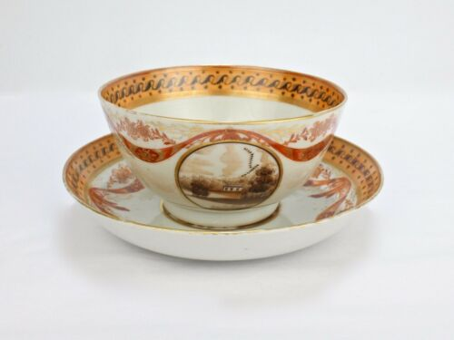 Antique 18C American Market Chinese Export Cup and Saucer - Ex Elinor Gordon PC