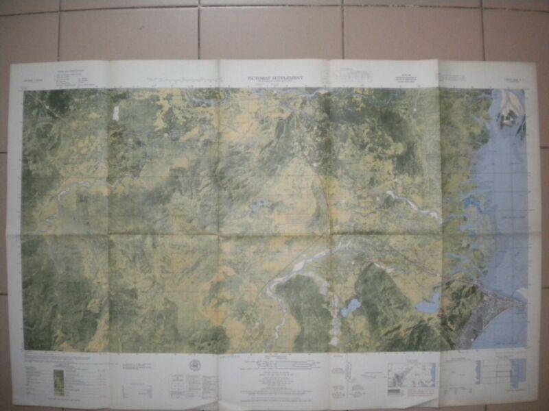 QUI NHON Vietnam map large format Navy AHC PBR PCF MACV 6836 IV S