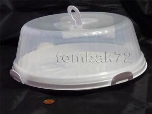 Large-Round-CAKE-Storage-BOX-Plastic-Container-Tray-Clear-Lockable-LID-COVER