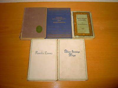 Konvolut 5 teilig/ 5 sehr alte, antiquarische Bücher 20er Jahre / RARITÄTEN !