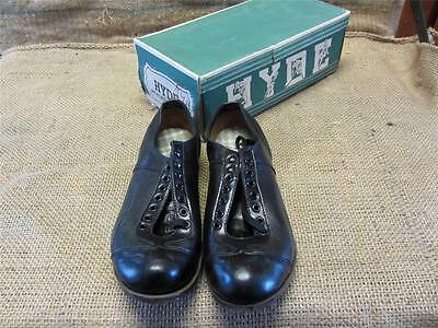 217dfbd6aea5 Vintage NOS Childs Leather Baseball Cleats   Old Antique Hyde Atheltics 8835