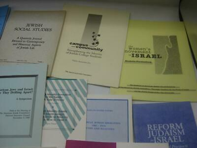 Collection 20 Pamphlets, Offprints, Ephemera JEWISH HISTORY Related Subjects - $39.99