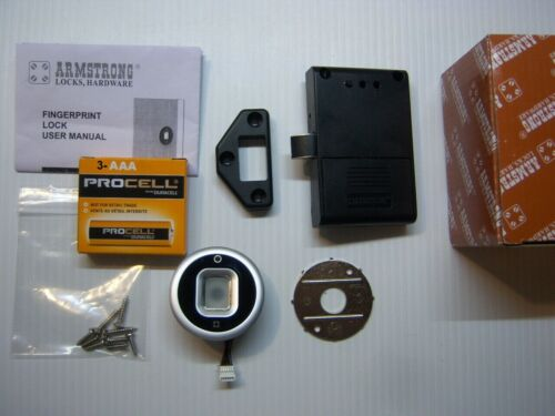 Armstrong Fingerprint / Biometric Cabinet Lock SDWF-MC002 Used w/New Batteries