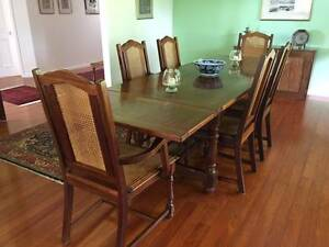 EXQUISITE HANDCRAFTED REFECTORY TABLE AND CHAIRS Maleny Caloundra Area Preview