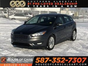 2018 Ford Focus Titanium / Heated leather seats / Back up Camera