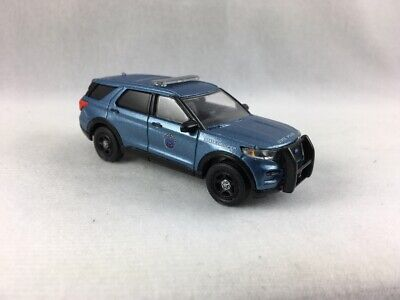 MAINE STATE POLICE CUSTOM 2020 FORD EXPLORER SUV - 1/64 SCALE - GREENLIGHT