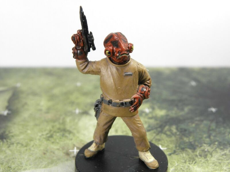 Rebel Storm PROMO ~ MON CALAMARI MERCENARY #53 Star Wars miniature Battlefront