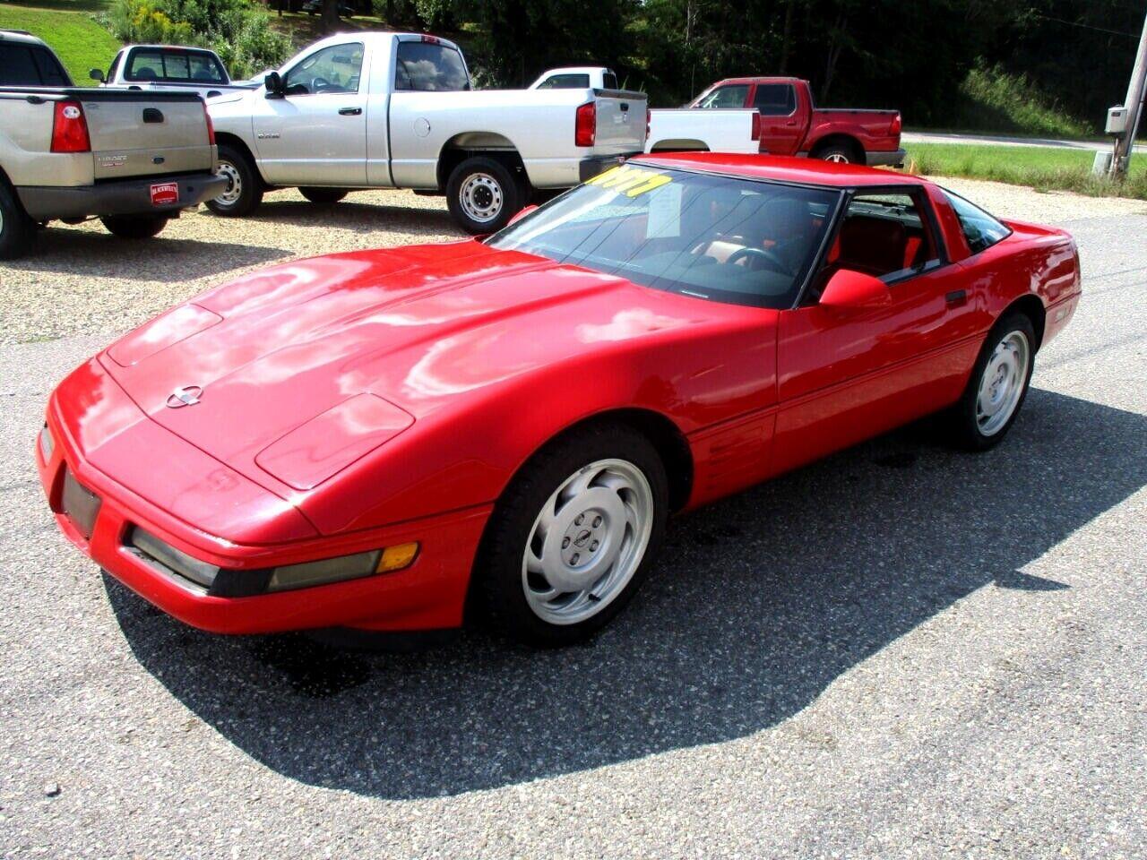 1991 Red Chevrolet Corvette Coupe    C4 Corvette Photo 7