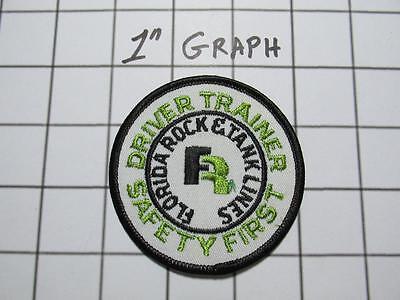 "Vintage Company Logo Patch - ""Florida Rock & Tank Lines"" Trainer - NOS Mint"