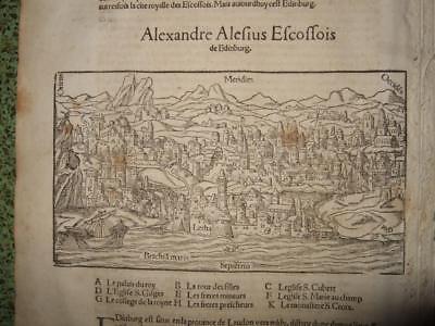 1550s,VIEW EDINBURGH-MUNSTER,4SHEETS,SCOTLAND,BRITAIN,UNITED KINGDOM,GENEALOGY..