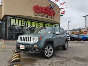 2018 Jeep Renegade Limited NAVI 8.4 RADIO REAR CAM P-ROOF 4X4