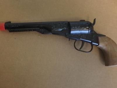 Die Cast Western Cowboy Series Pistol Revolver In Black 8 Shot Cap Gun Prop Gun