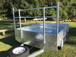 Ozzi 10x7 Galvanised Flat Top Trailer Tandem Axle Molendinar Gold Coast City Preview