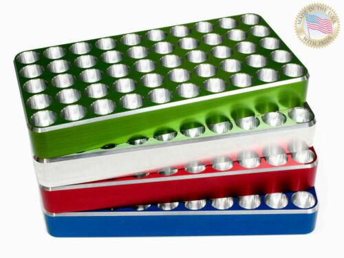 223 Rem. Reloading block Tray Loading CNC Made from Solid Billet Aluminum