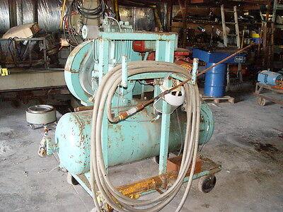 Quincy Portable Air Compressor 120 Gal. Horizontal Tank Wjackhammer Hose Bits