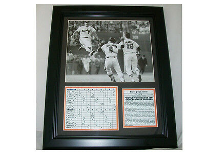 1966 BALTIMORE ORIOLES WORLD SERIES FRAMED 8X10 PHOTO BROOKS ROBINSON JUMPING