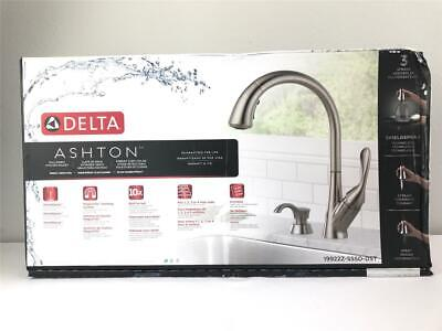 * DELTA ASHTON Pull-Down Kitchen Faucet Stainless 1-Handle 19922Z-SSSD-DST NEW