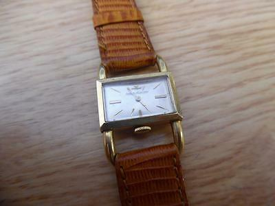 Vintage Jaeger Lecoultre 18k yellow gold case wind up Watch