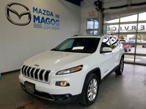 2016 Jeep Cherokee V6 LIMITED CUIR TOIT PANORAMIQUE GPS