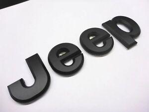 Jeep Emblem schwerer Metall Schriftzug Logo schwarz Chrysler selbstklebend NEU