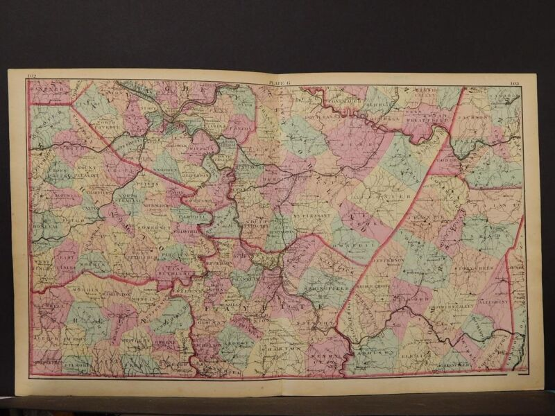 State of Pennsylvania Map, 1874, South West Section, K1#59