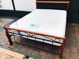 Excellent metal frame queen bed with pillow top mattress. Deliver Kingsbury Darebin Area Preview