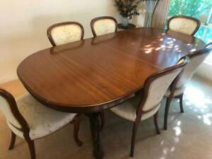 Dining Table - Solid Wood with 6 Chairs