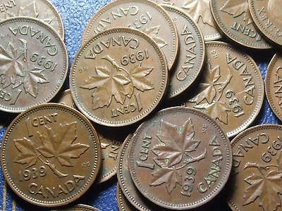 1939 CANADIAN SMALL CENTS KING GEORGE VI        BUY ONE OR BUY THEM ALL