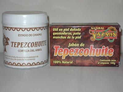 2 Pack    Tepezcohuite Ointment   Soap  Sunburn Acne Eczema Psoriasis Scars