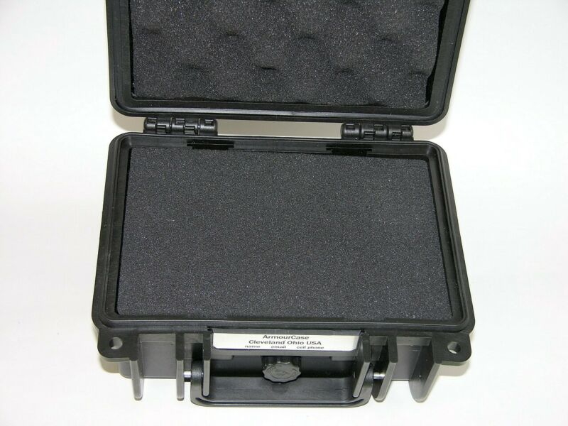 New Travel Storage ArmourCase Waterproof 1120 case with cubed foam + nameplate