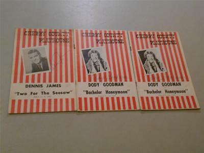 Lot of 3 Theater Programs - Dody Goodman and Dennis James ~ all *SIGNED* 1961