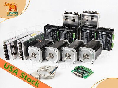 Fast Free Shipping4axis Nema34 Stepper Motor With 1090oz-in 5.6adq860ma Cnc