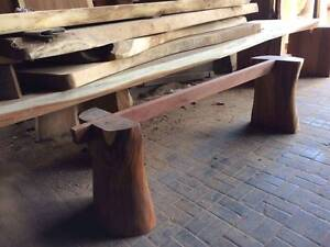 OUTDOOR DINING TABLE - SLAB POLISHED TIMBER Mackay Mackay City Preview