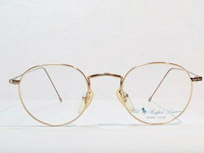 POLO CLASSIC BY RALPH LAUREN GOLD FRAME GLASSES 42[]21 6-3 with Custom (Gold Frame Polo Glasses)