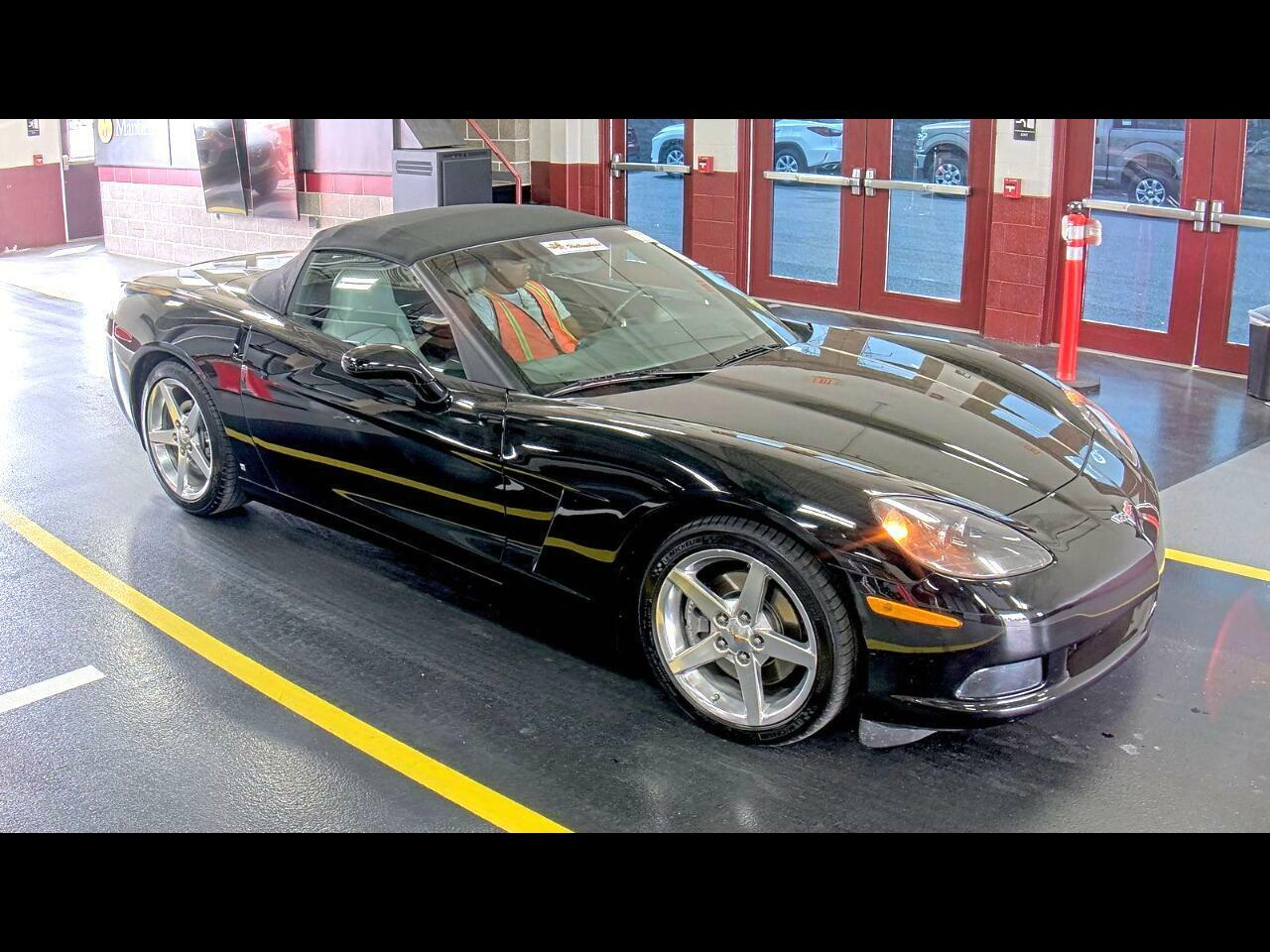 2006 Black Chevrolet Corvette Convertible  | C6 Corvette Photo 2
