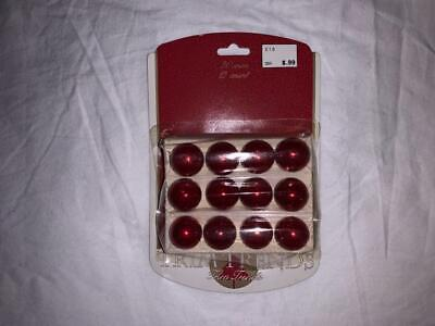 Seasonal Specialties Company Miniature Red Glass Christmas Decorations 1991 NOS ()