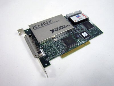 National Instruments Pci-6032e Daq Card 16 Bit Analog Input Multifunction Ni