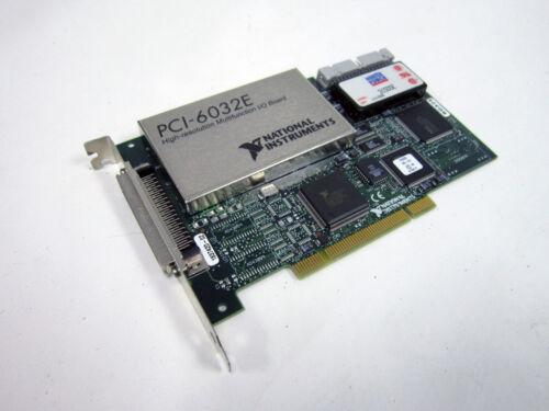 NATIONAL INSTRUMENTS PCI-6032E DAQ CARD 16 BIT ANALOG INPUT MULTIFUNCTION ~ NI