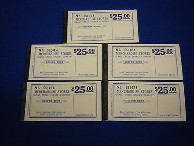 lot of 5 $25.00 Island Creek Company Store coal mine scrip coupons uncirculated](Party Store Coupons)