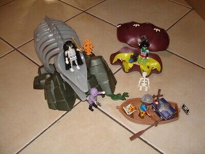 Playmobil pirates fantomes barque crabe géant etc..