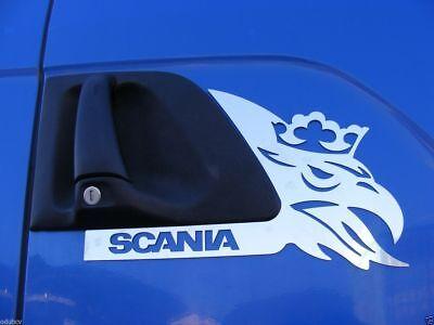 2 Stück poliert Edelstahl Türverkleidung Dekorationen für SCANIA P / G / R-Serie