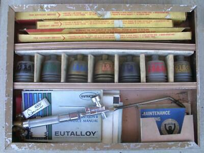 Eutalloy Eutectic Welding Torch Kit With Torch Powder Rods Insutuctions Case